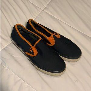 Tory Burch Navy and Orange Slip On sneakers